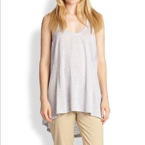 Eileen Fisher striped linen racerback tunic tank